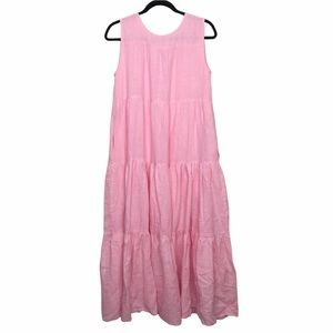 Tribe Alive Laude The Label Pink Tiered Maxi dress